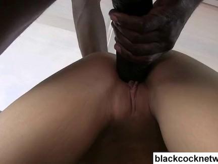 Mandingo destroys blondes tight pussy
