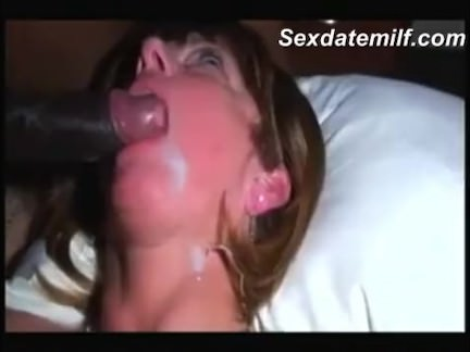 Mature hotwife eating a thick load of BBC cum