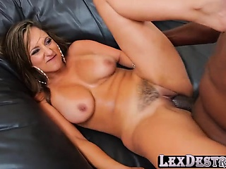Sex bomb brunette Reena takes in a bbc