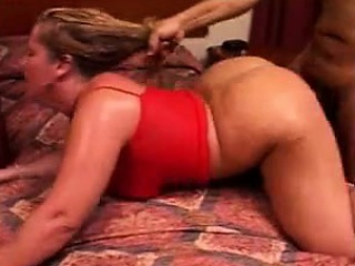 Fat blonde MILF fucked by a BBC