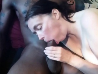 Mature white wife enjoying her first BBC