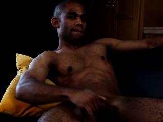Muscular black gay jerking bbc until cumshot