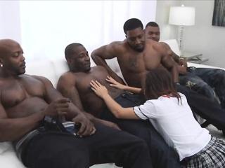 5 massive BBCs sucked by big tit
