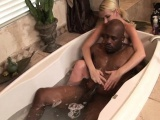 MILF masseuse stroking bbc in the bathtub