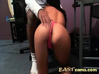 Tiny Asian pussy stretched by BBC