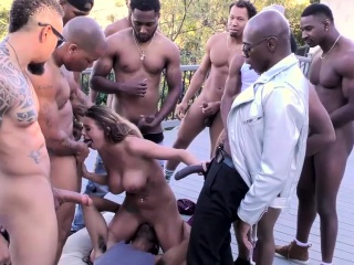 A Dozen BBCs Get Sucked Off By Brooklyn Chase