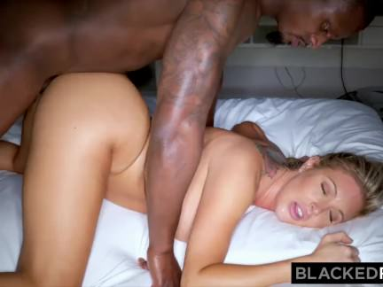 BLACKEDRAW Blonde trophy Wife Cucks Her Husband With BBC