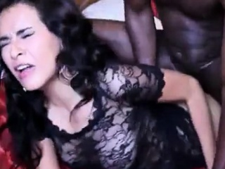 hot young hispanic chick struggles with her first bbc