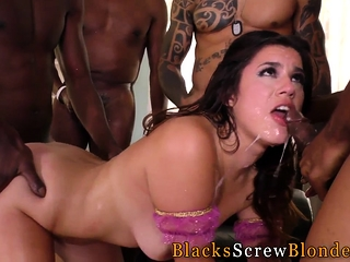 Babe bukkaked by bbcs