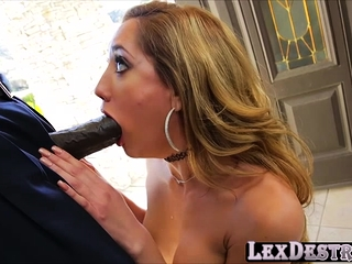 Hot Chloe Amour gives a bbc a good suck